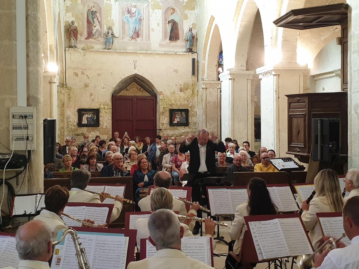 Vue de l'orchestre et du public