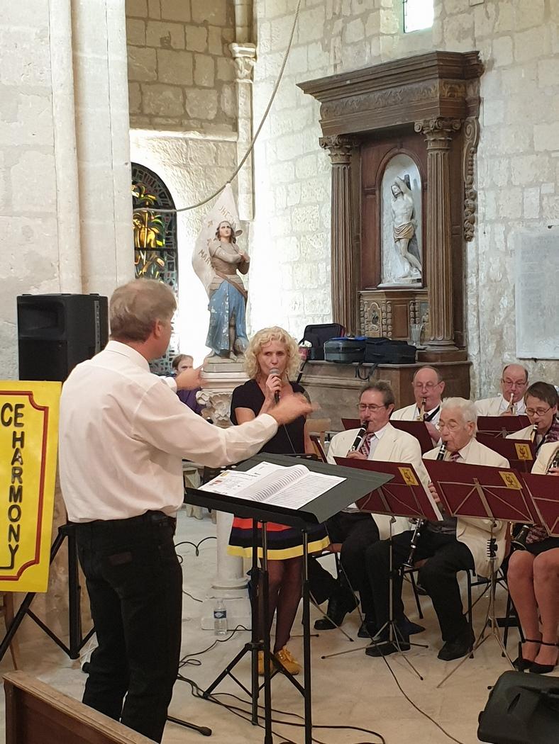 Vue de l'orchestre et de Sylvie