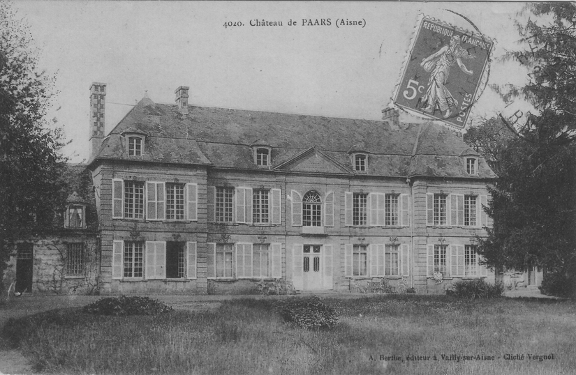 Château de Paars en 1912