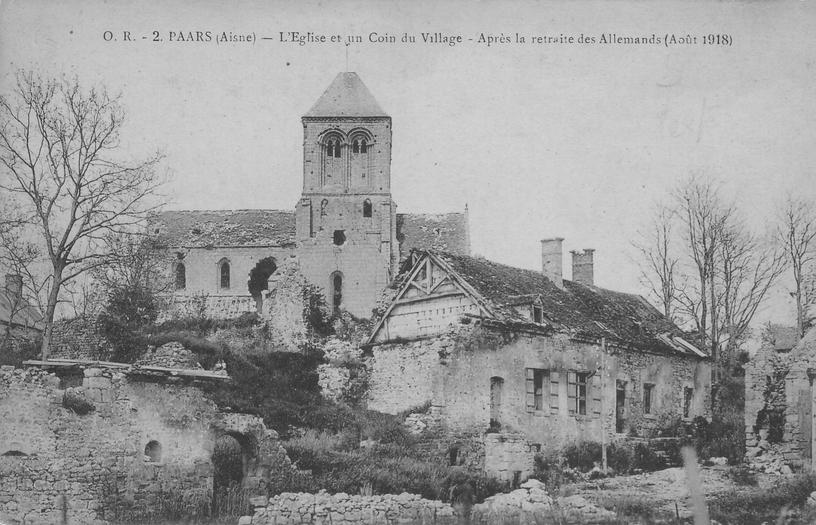 Paars en Août 1918