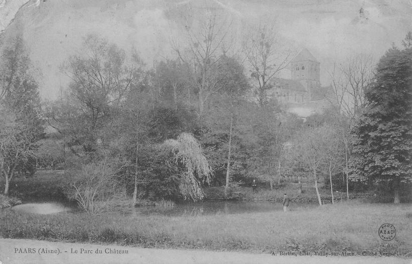 Parc du Château et Eglise en 1907