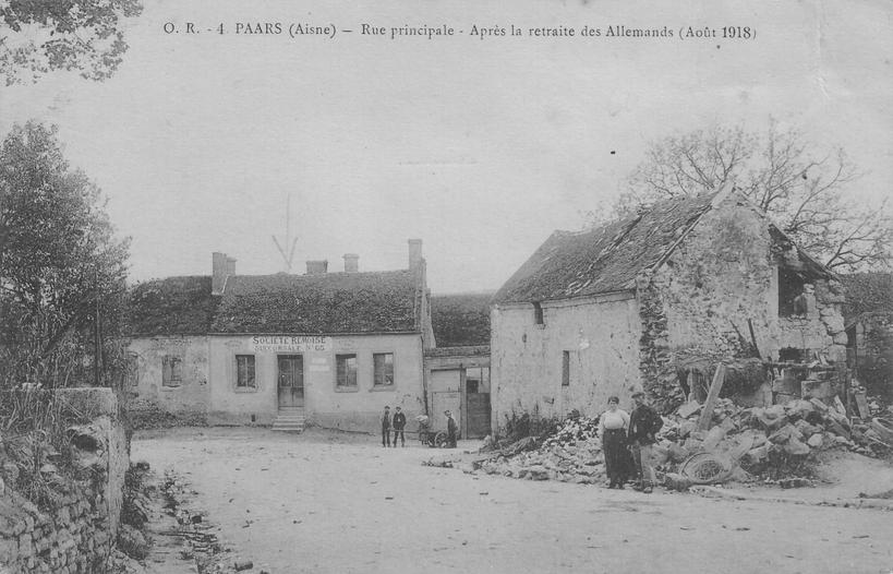 Place de Paars en 1919