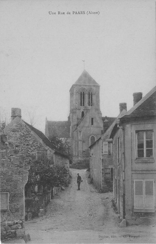 Montée de l'église en 1922